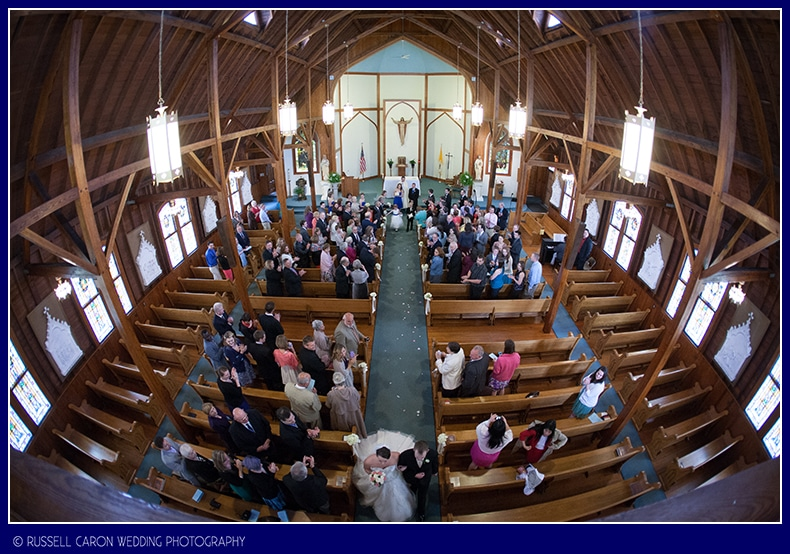 Our Lady Queen of Peace wedding ceremony