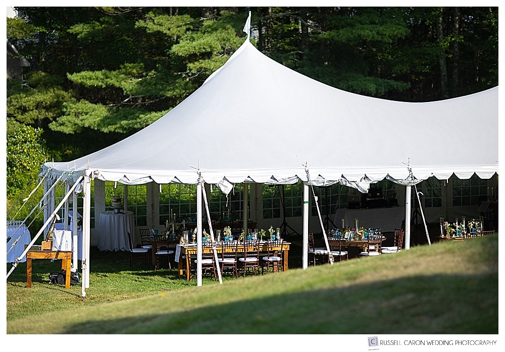 tented reception on the lawn at a 1774 Inn wedding