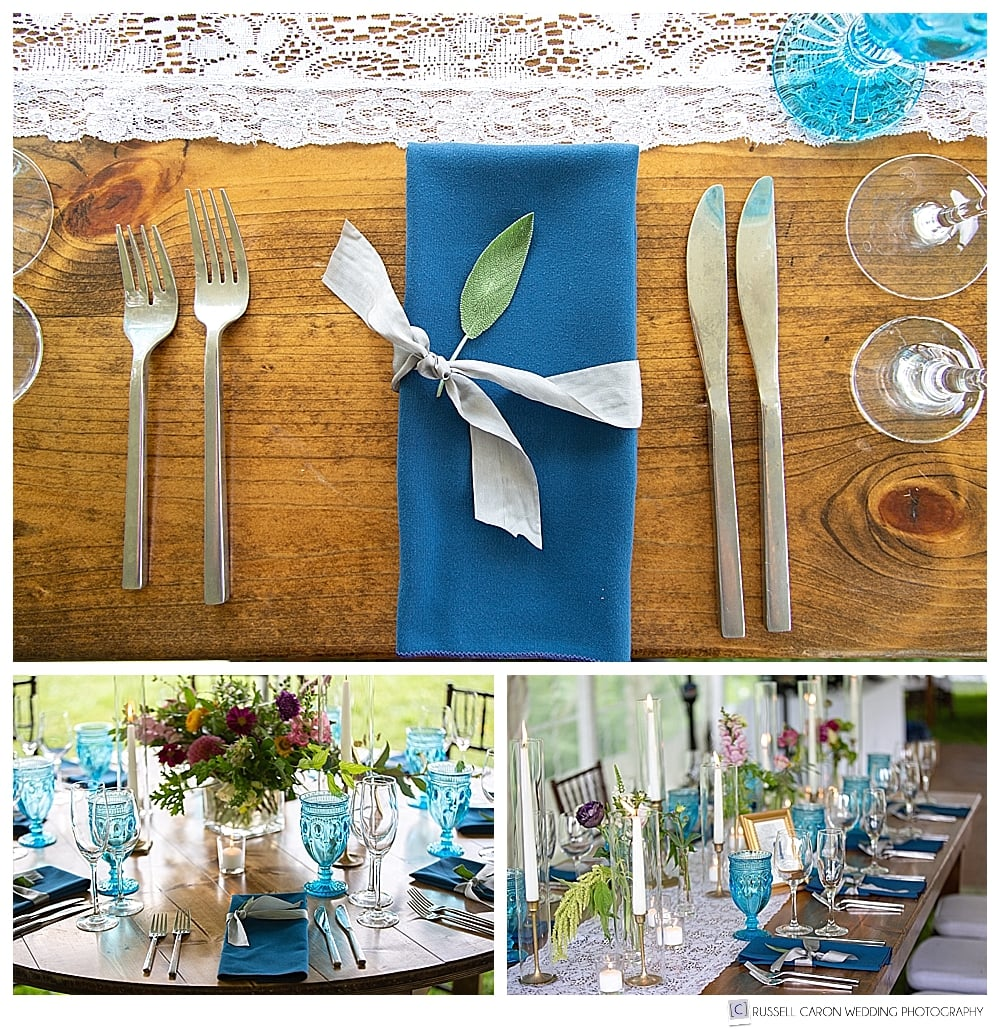 wedding reception detail photos, by planner Salty and Sweet Events
