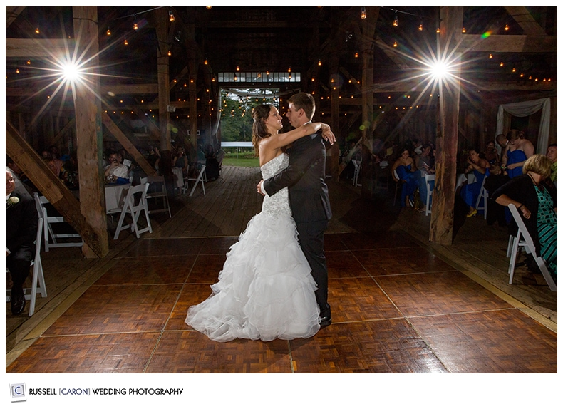 Maine wedding photographers capture first dance