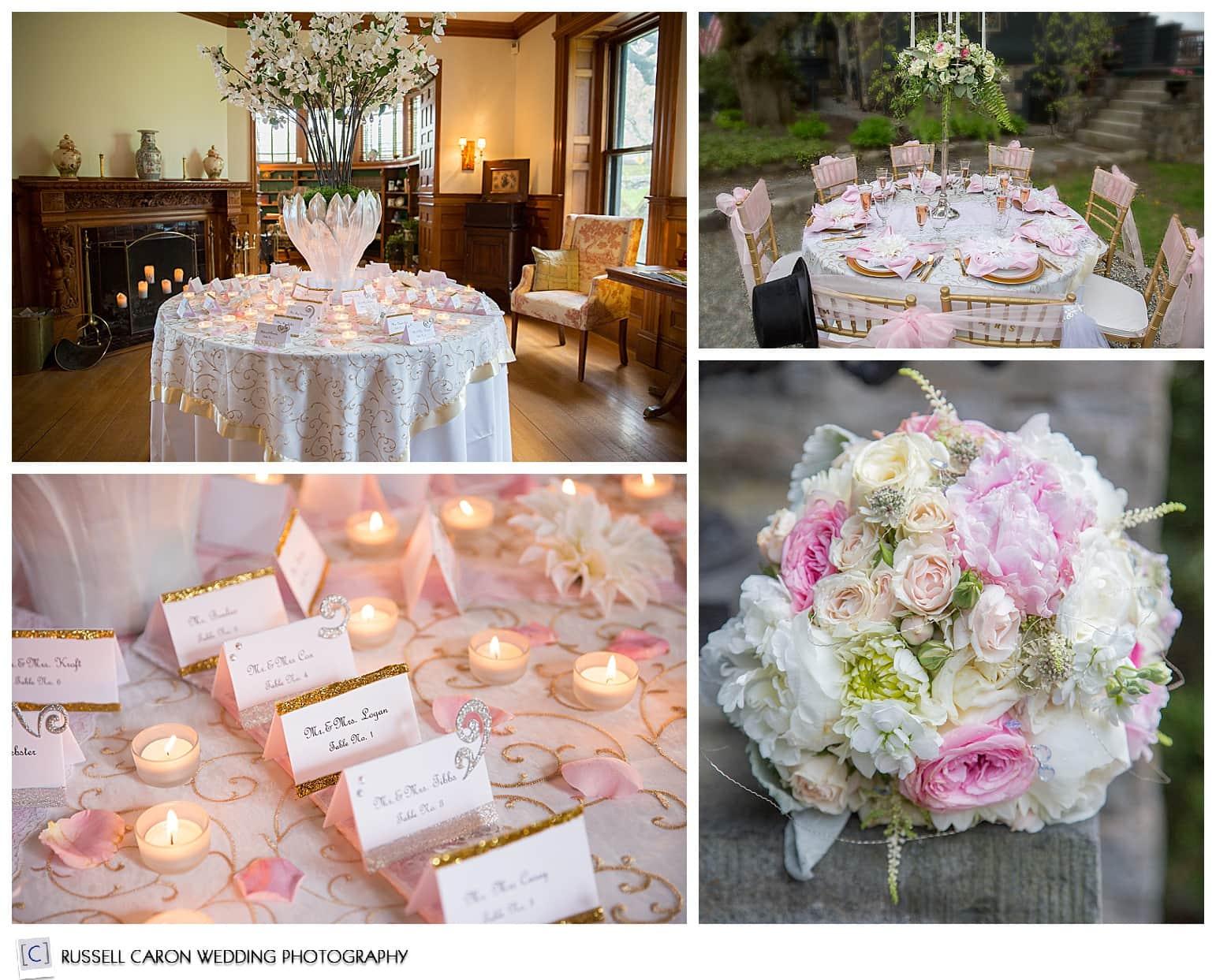 Wedding detail ideas, Norumbega Inn weddings