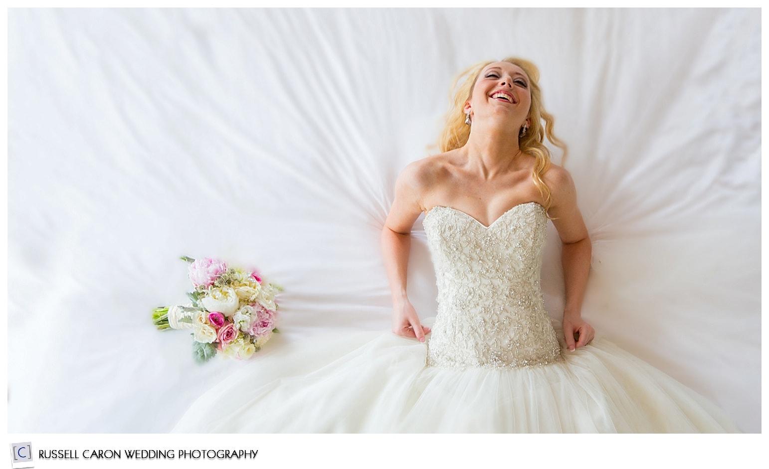 Bridal prep photo at the Norumbega Inn, Camden, Maine