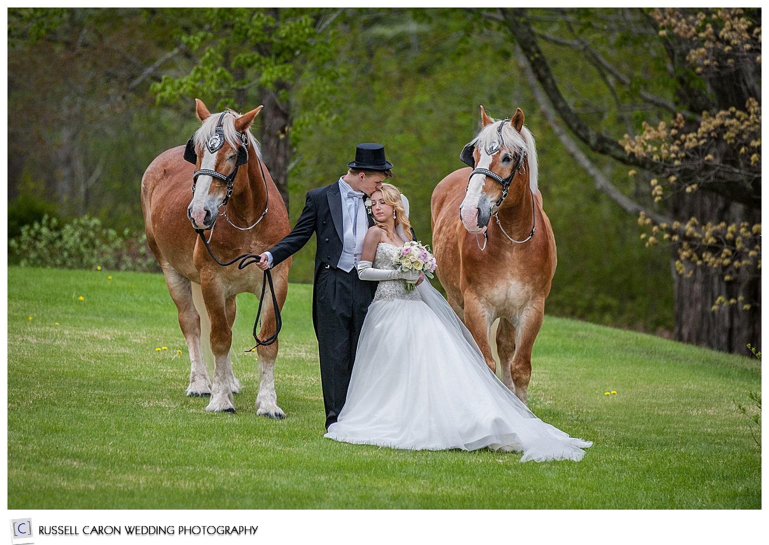 Romantic wedding at Norumbega Inn