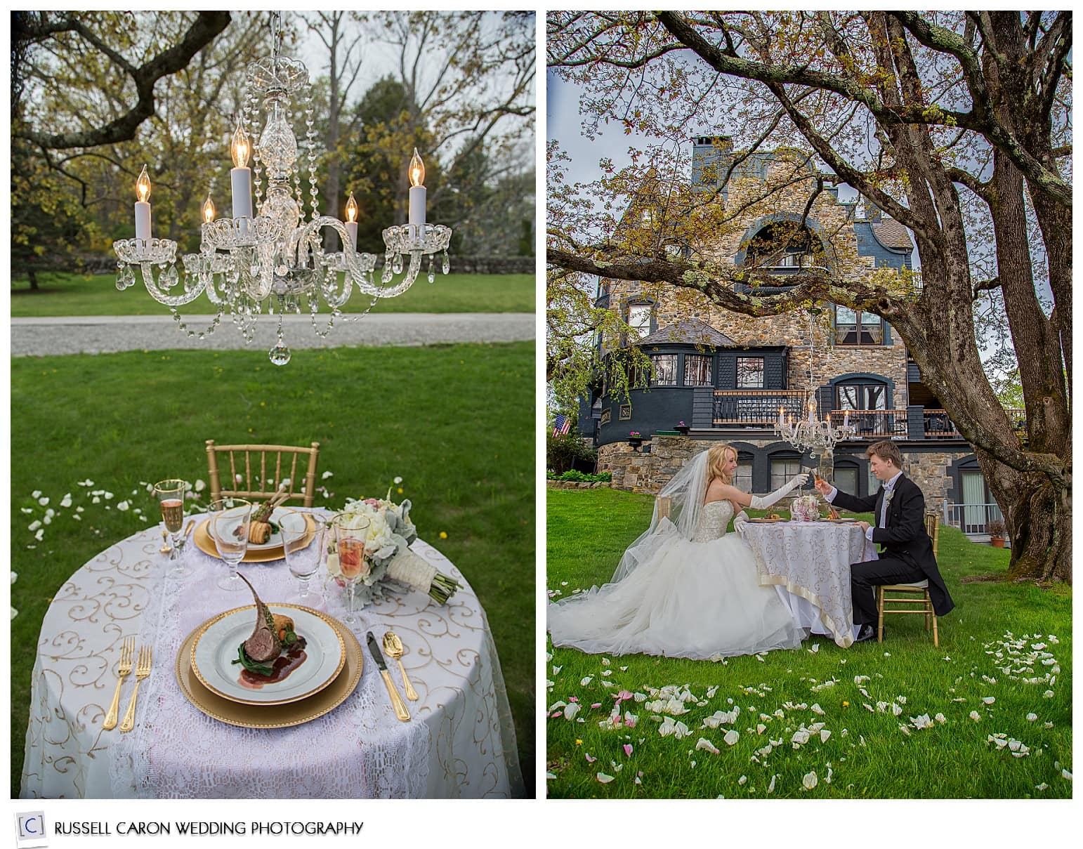 Sweetheart table ideas, bride and groom during reception