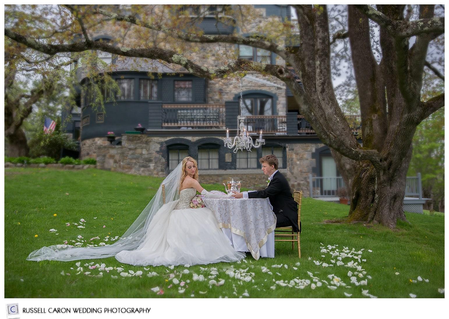 Intimate wedding at the Norumbega Inn, Camden Maine