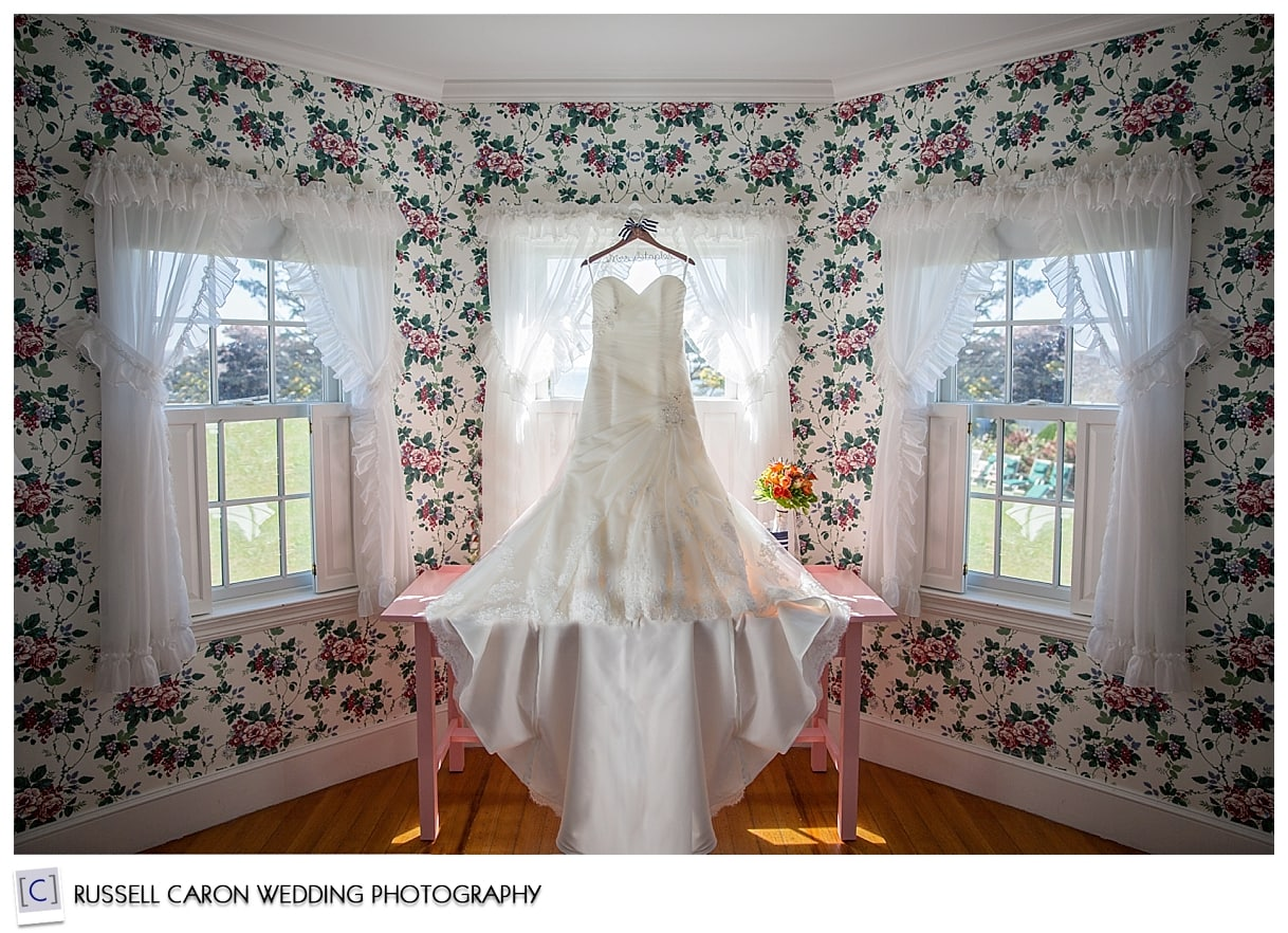 Bridal gowns photograph beautifully in the bridal suite, at Colony Hotel weddings