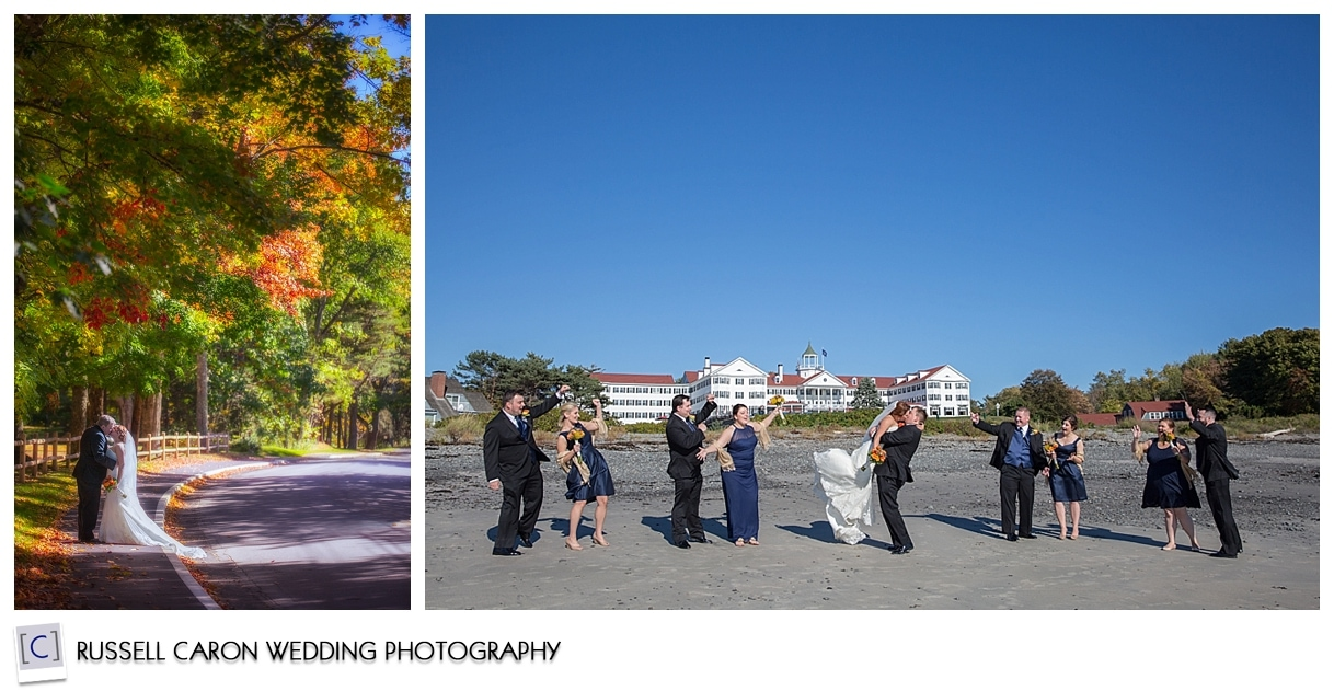 Bride and Groom portrait, bridal party at Colony Beach, Colony Hotel weddings