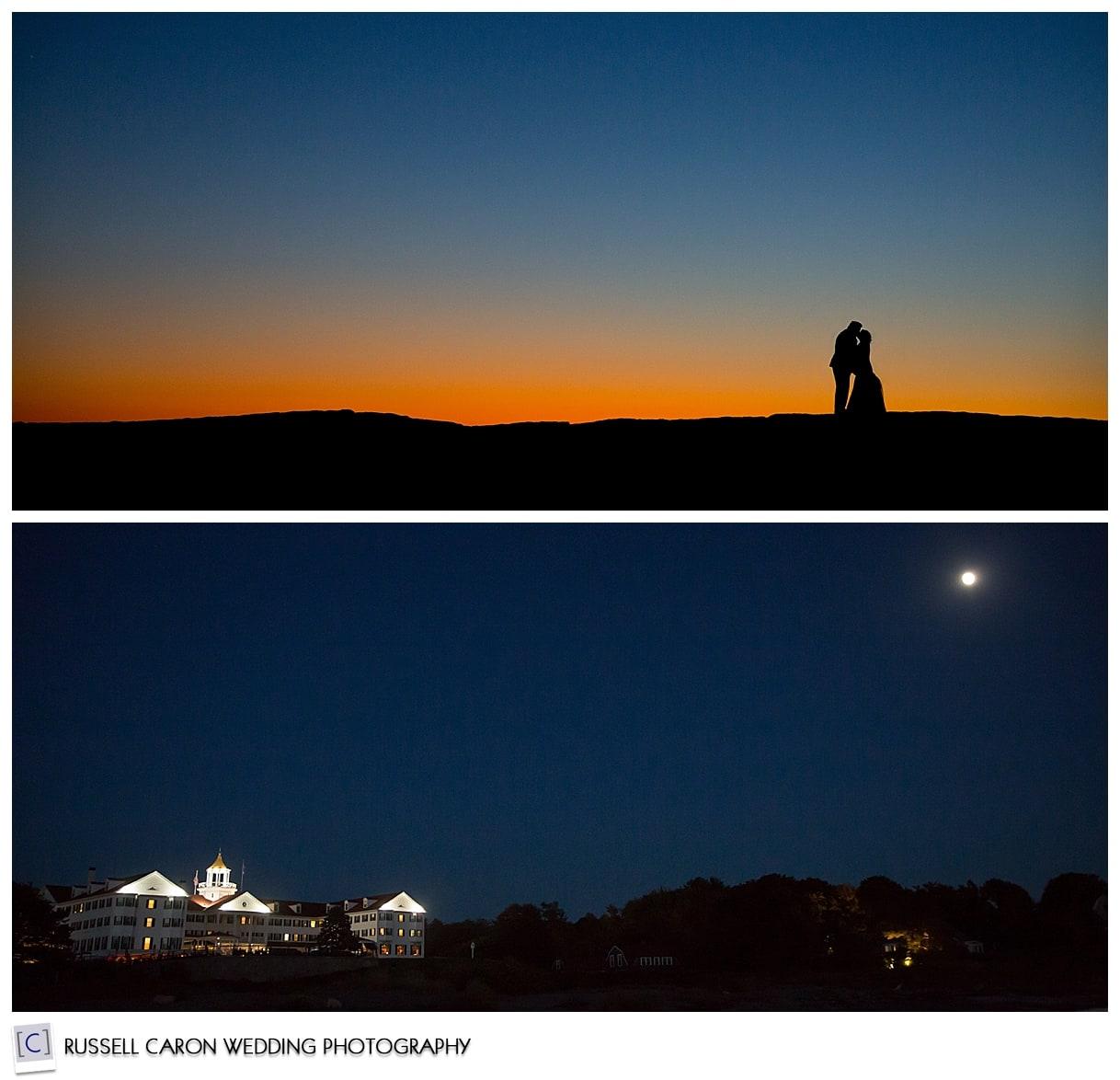 twilight wedding photos in kennebunkport maine