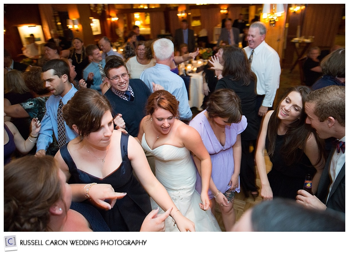 Reception fun at the Colony Hotel, Kennebunkport