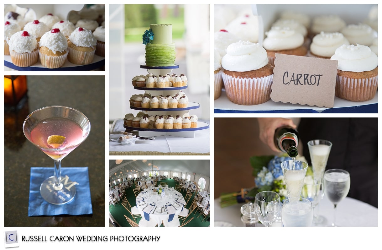 Wedding details at The Wentworth, Jackson, NH