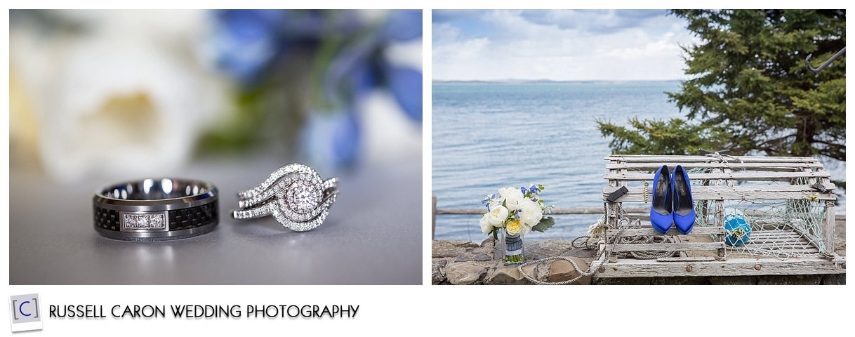 Wedding day details, flowers, rings