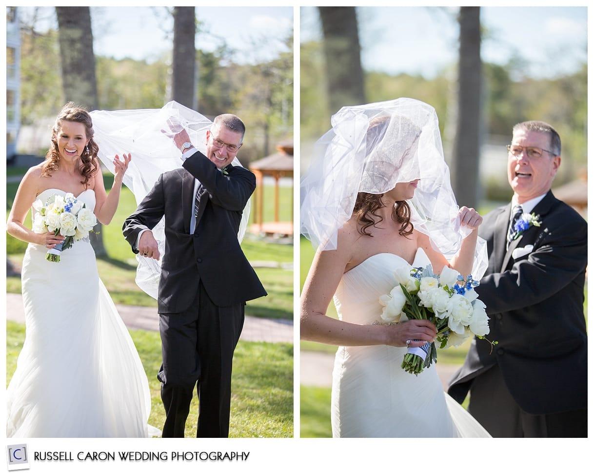 Windy bridal veil photos