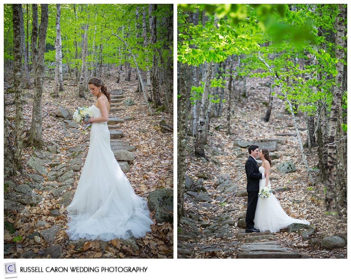 Wedding photos in Acadia National Park