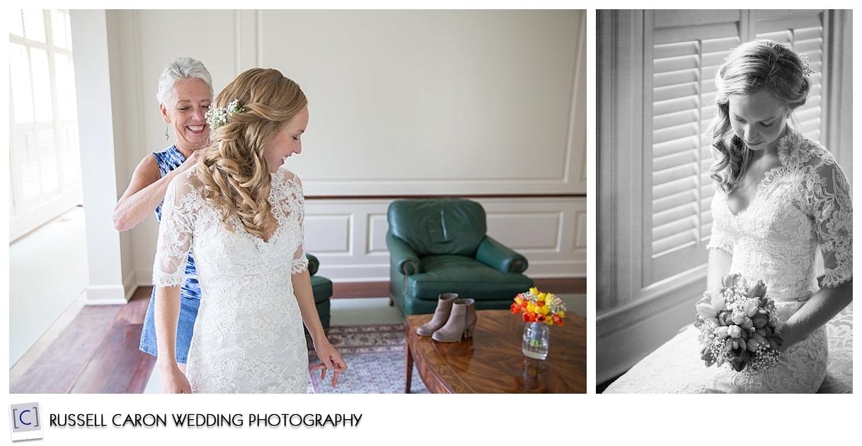 Bride getting ready, bridal portrait