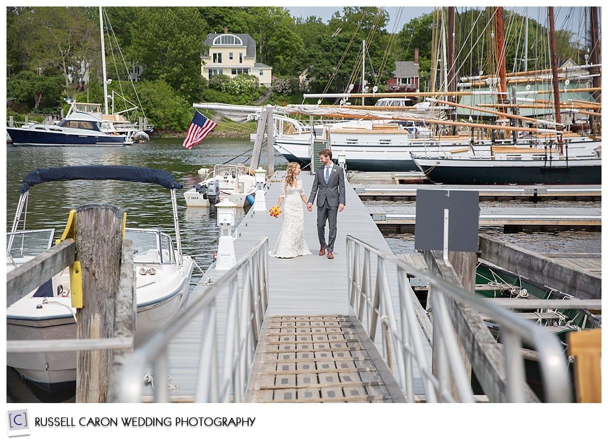 Mackenzie and Josh on Camden dock