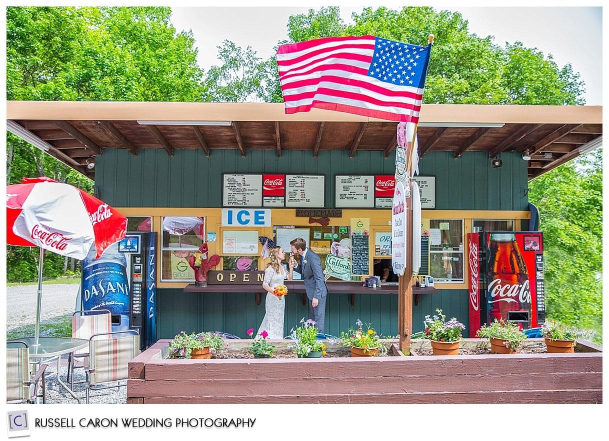 Mackenzie and Josh at an ice cream shop