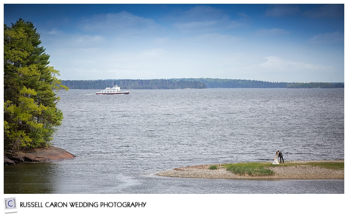 Ferry to Islesboro Maine, Kenzie and Josh at Lincolnville Beach