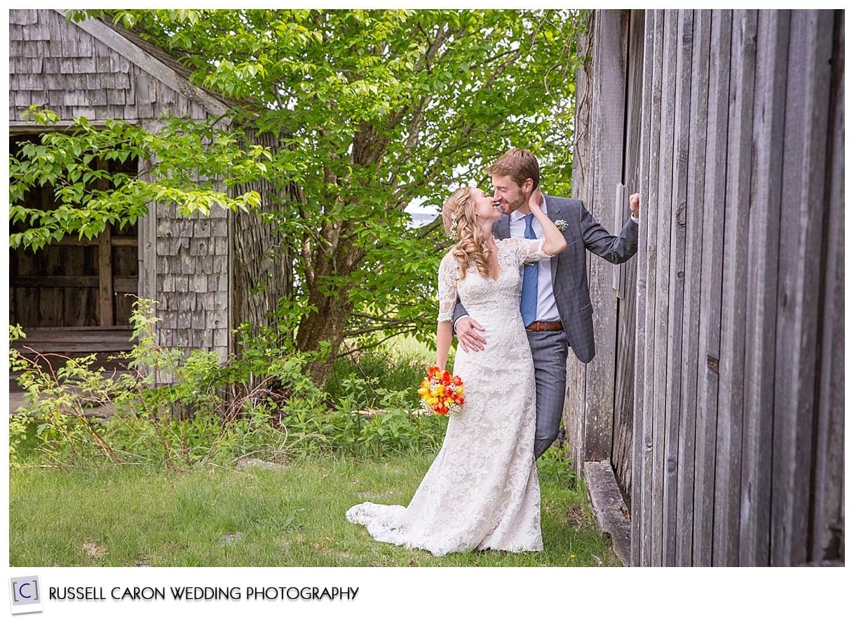 Mackenzie and Josh in front of barn