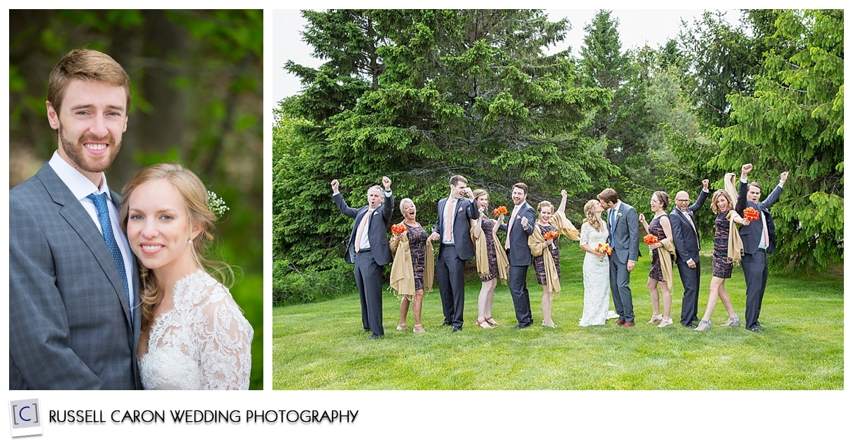 Mackenzie and Josh, bridal party