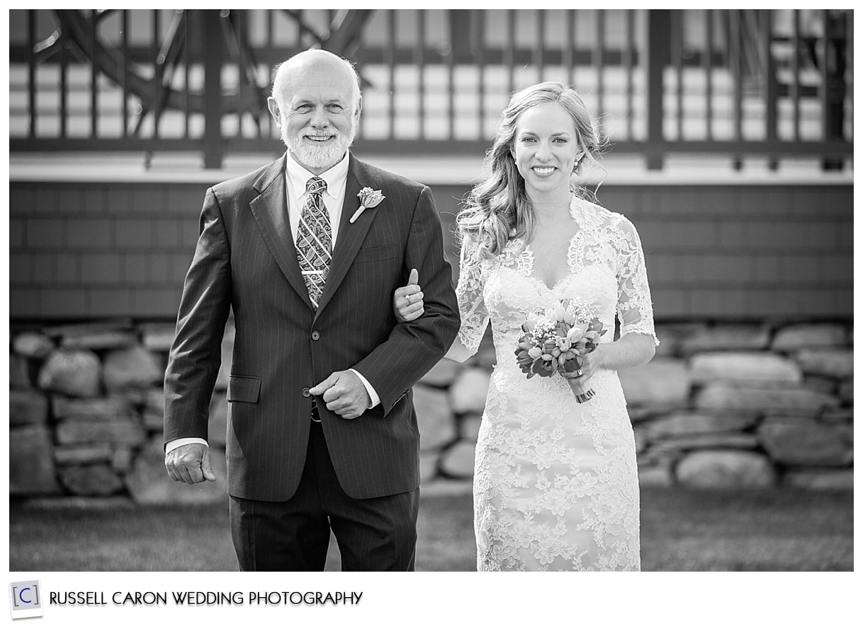 Mackenzie and her dad coming down the aisle