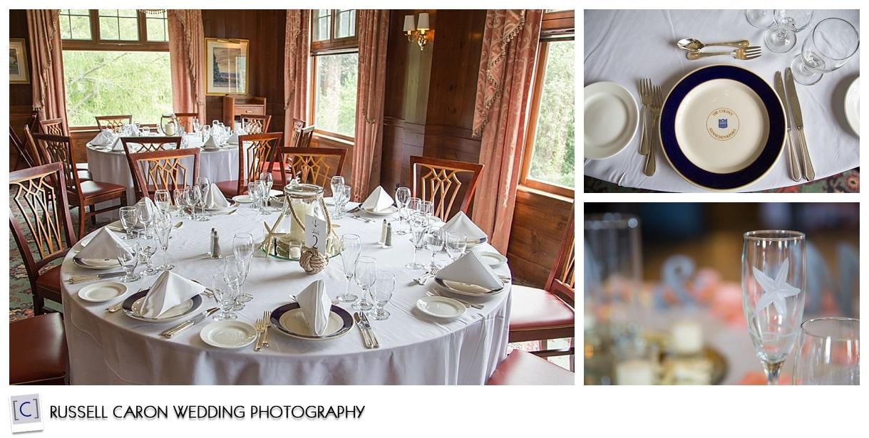 Colony Hotel wedding reception details