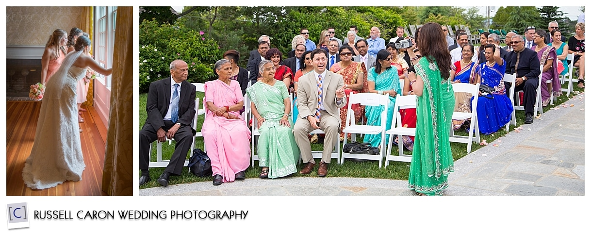 Guests at outdoor wedding at the Colony Hotel