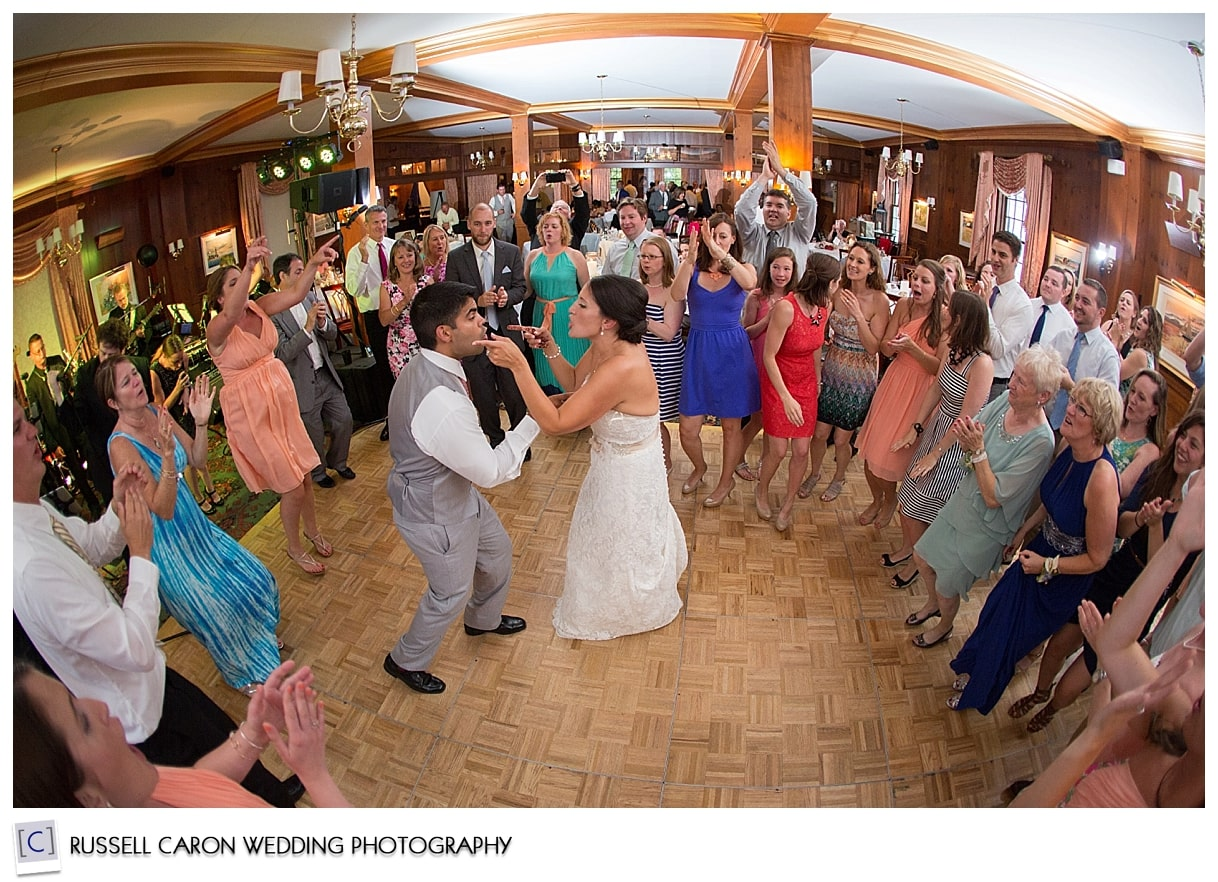 Wedding reception fun at The Colony Hotel, Kennebunkport