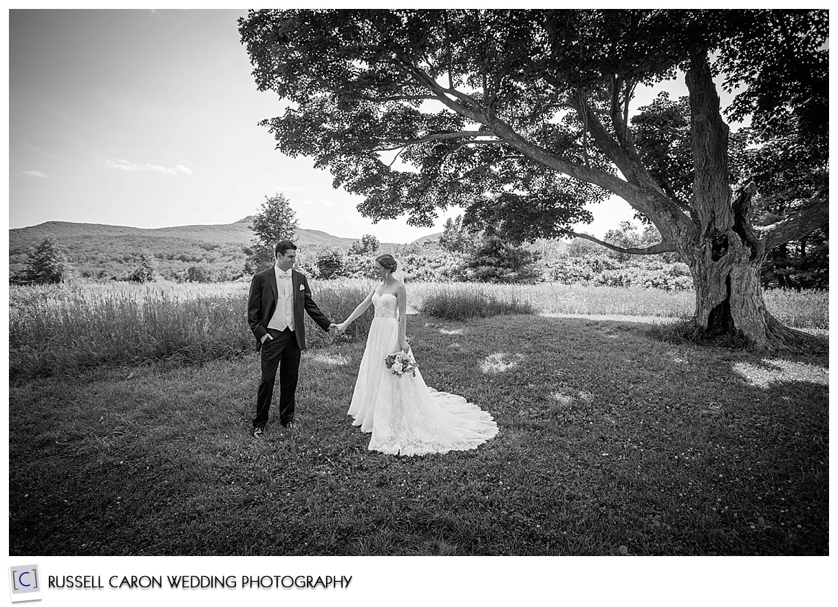 Wedding couple at Seven Sisters