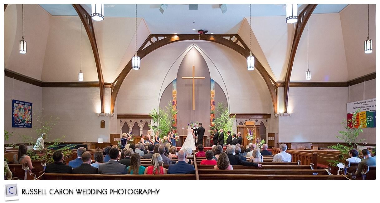 First Congregational Church wedding