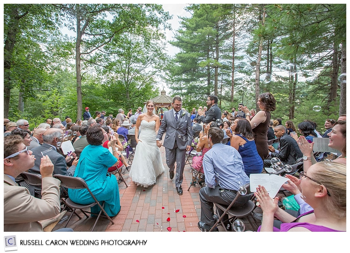 Bride and groom married! By Maine wedding photographers Russell Caron Wedding Photography