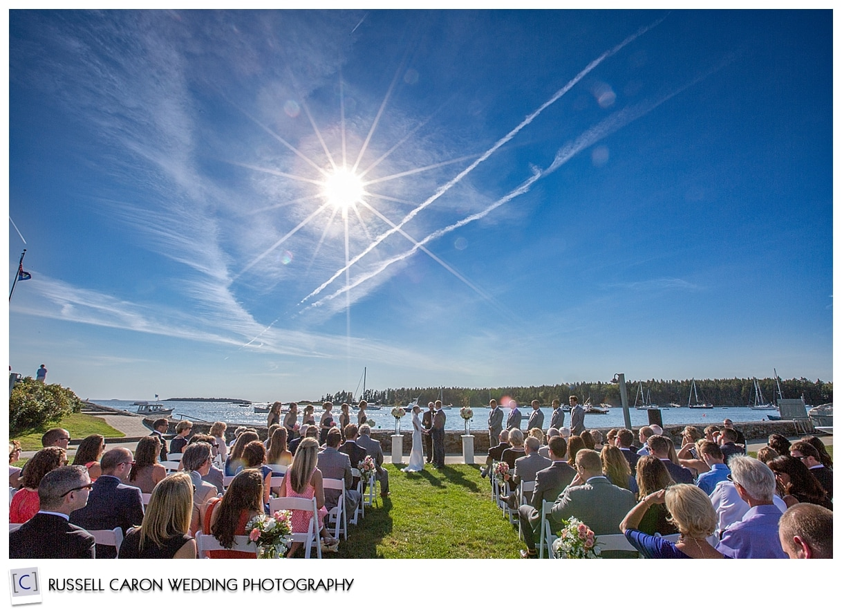 Sebasco Harbor wedding at the water's edge