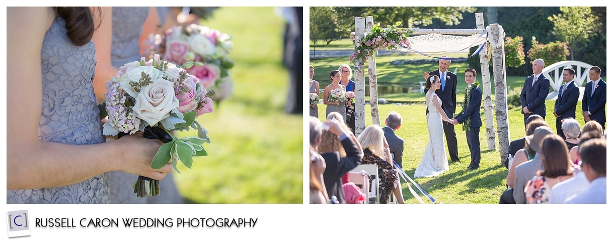 Wedding ceremony at Pineland Farms