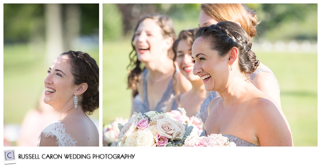 Bride and bridesmaids during ceremony