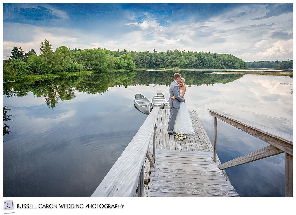 Couple at the Pond, Sebasco Harbor Resort weddings