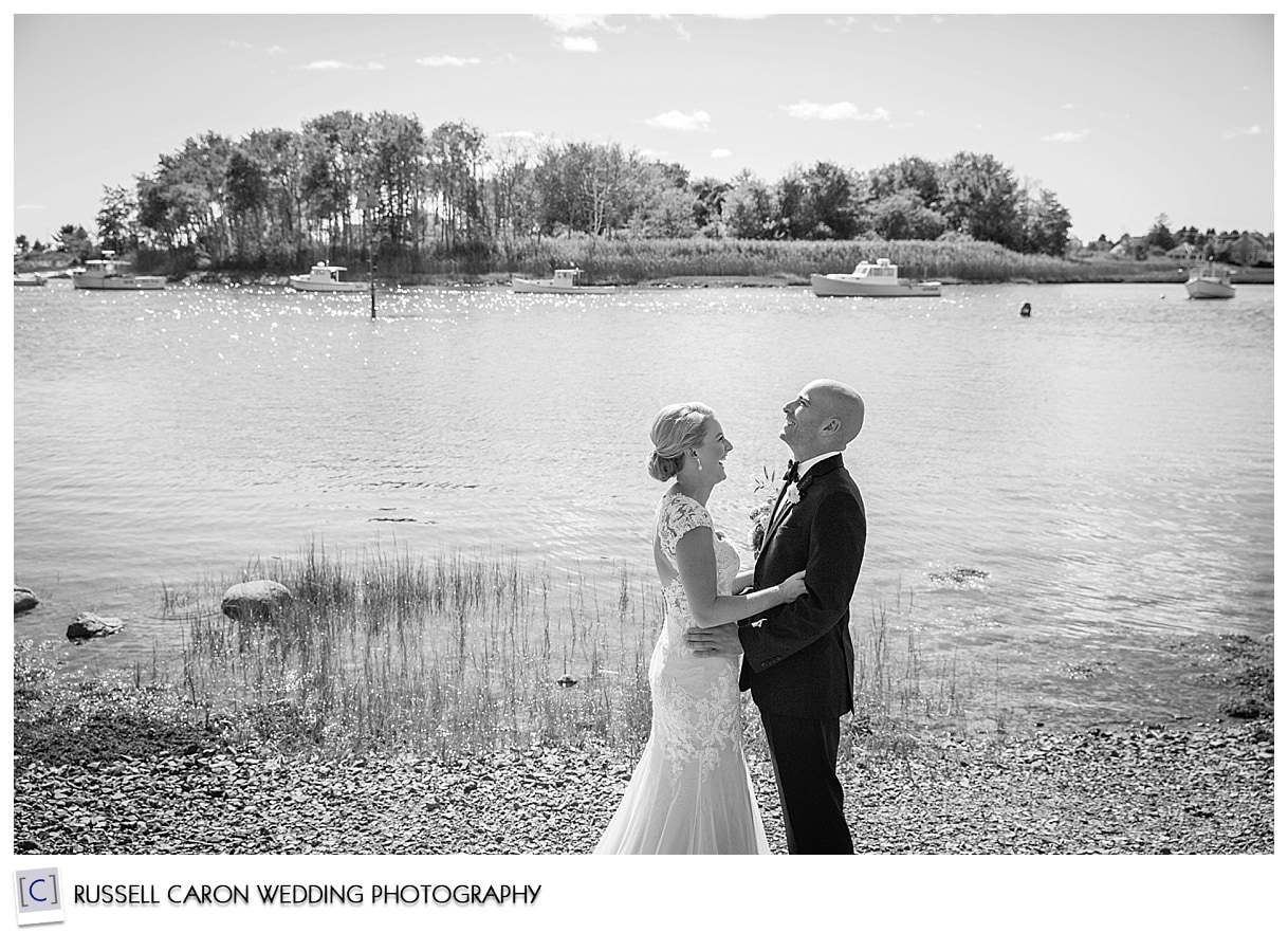 bride-and-groom-at-the-beach-in-kennebunkport-maine