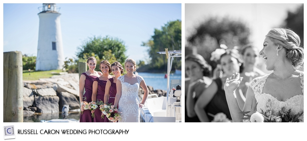 bride-and-bridesmaid-on-dock-kennebunkport-maine