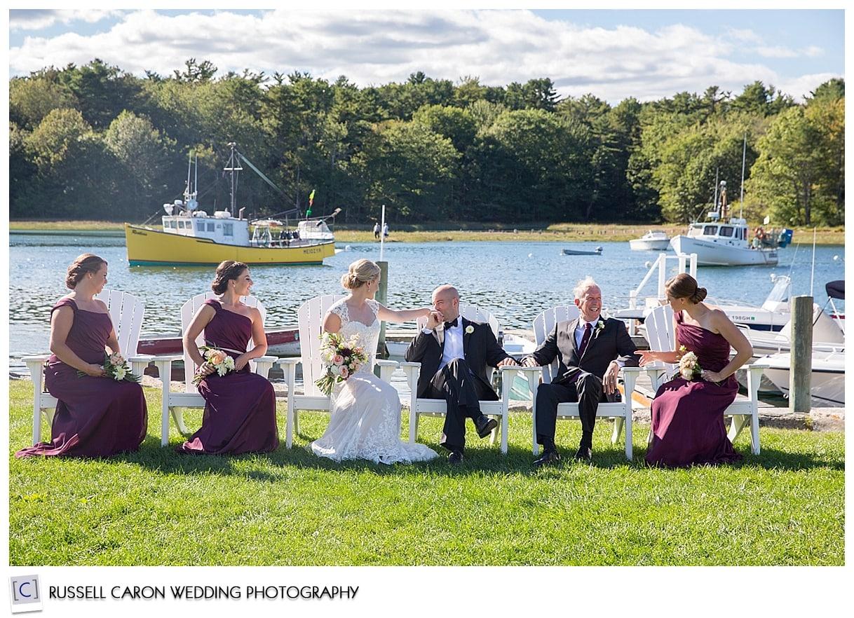 bridal-party-on-nonantum-resort-lawn-kennebunkport-maine