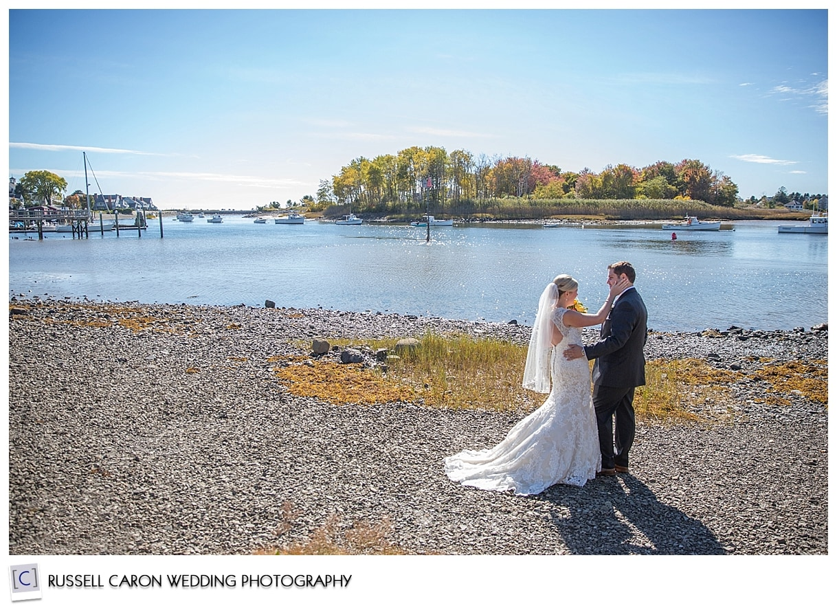 bride-and-groom-on-beach-kennebunkport-maine