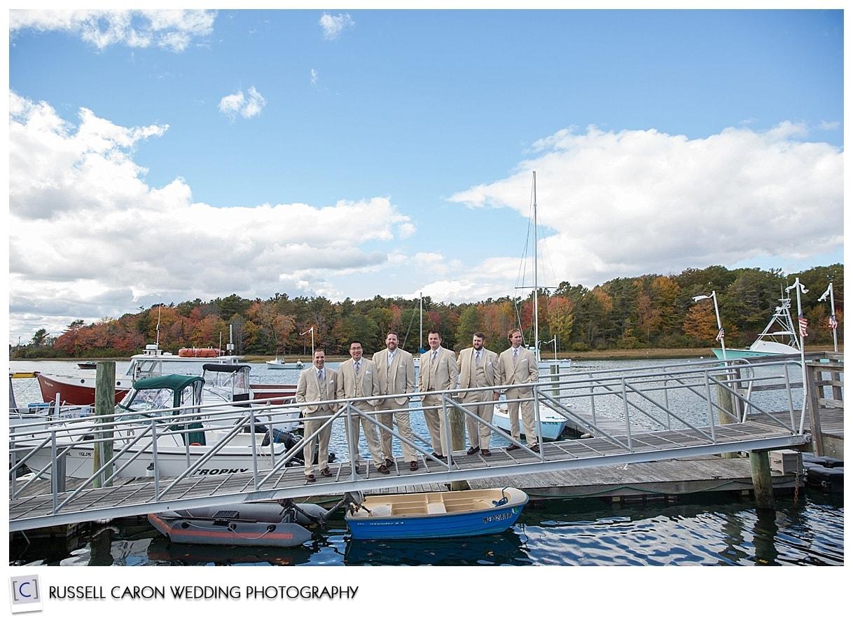 groom-and-groomsmen-on-dock