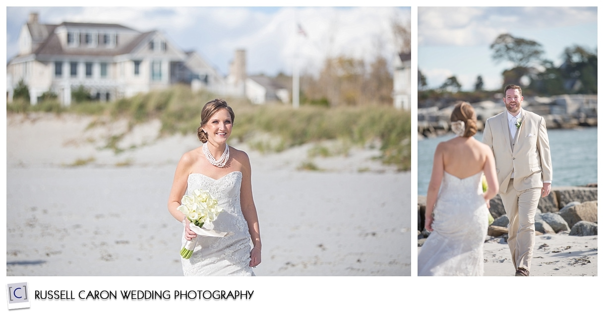 bride-and-groom-during-first-look-photos-on-beach