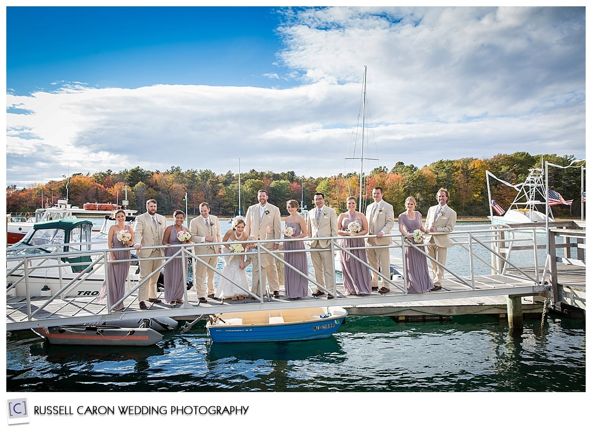 bridal-party-on-dock
