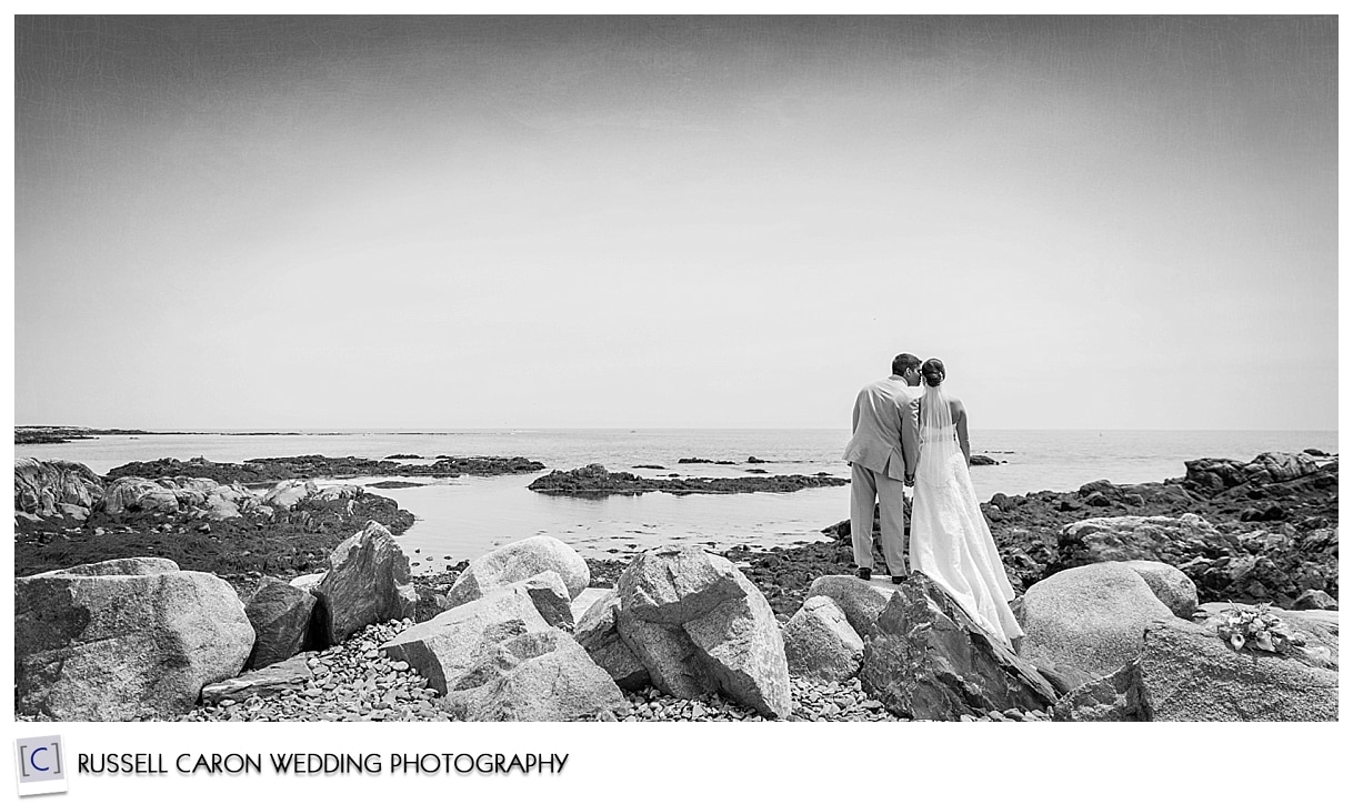 Bride and groom looking out over the ocean, #49, 50 best wedding images of 2015