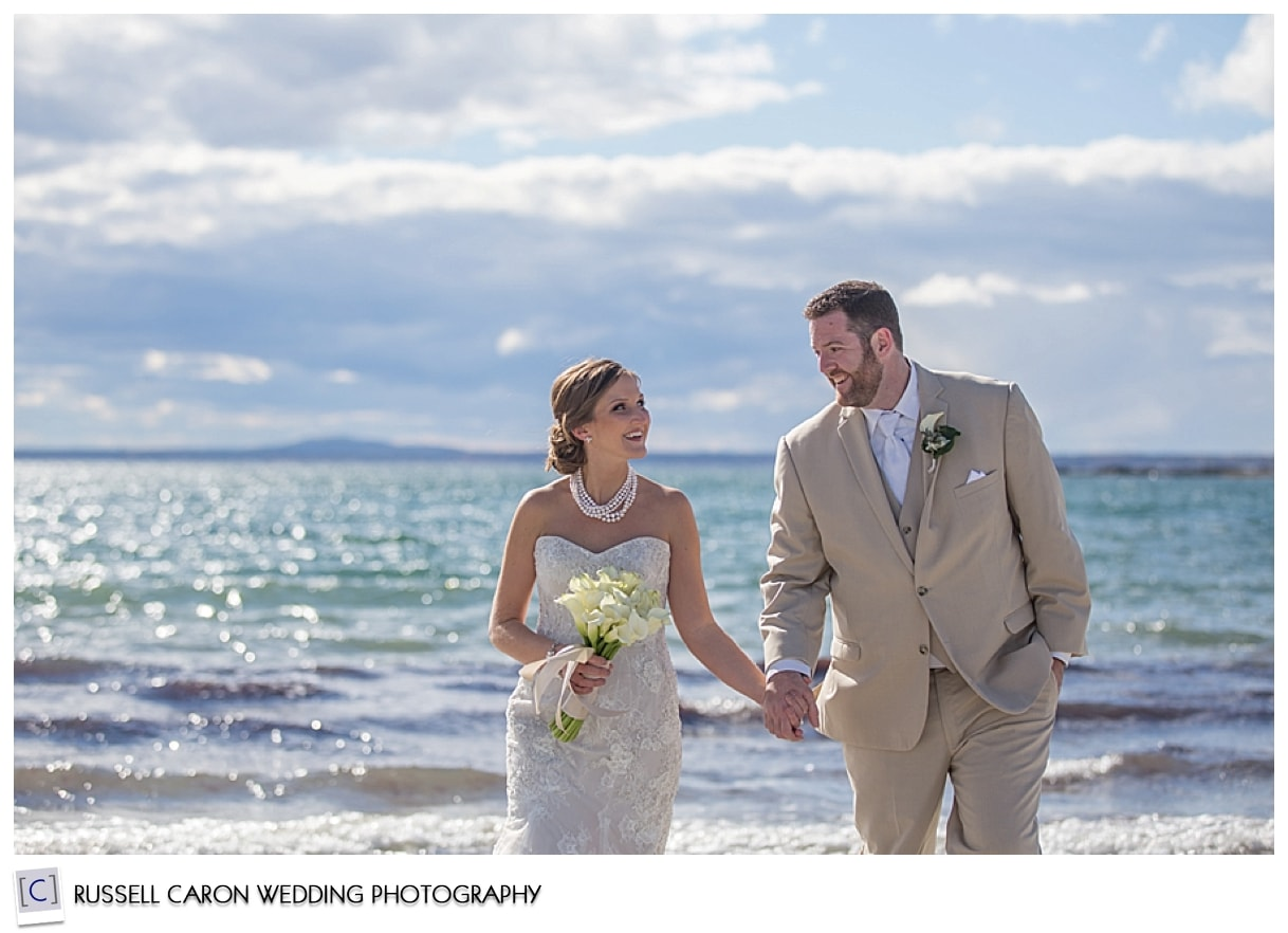 Bride and groom on beach in Kennebunkport Maine, #8, 50 best wedding images of 2015