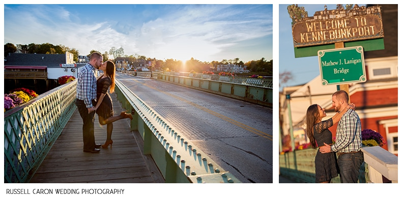Photos on the bridge that connects Kennebunk and Kennebunkport