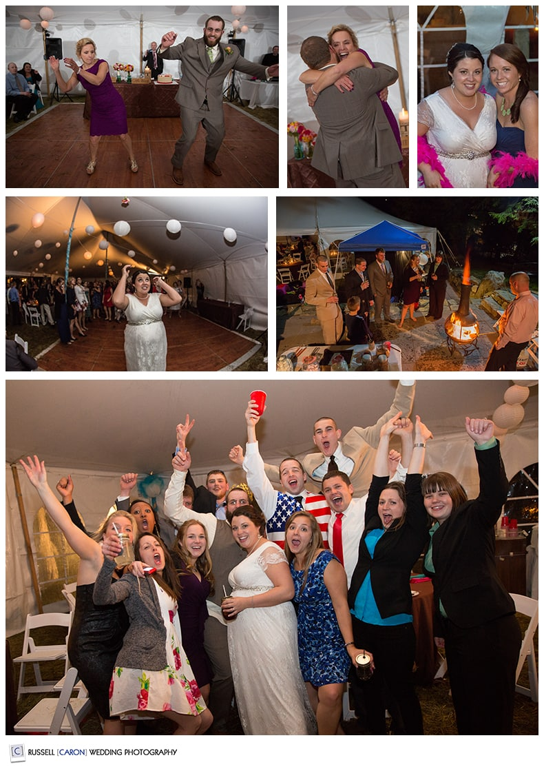 Dancing fun at Camden Maine weddings