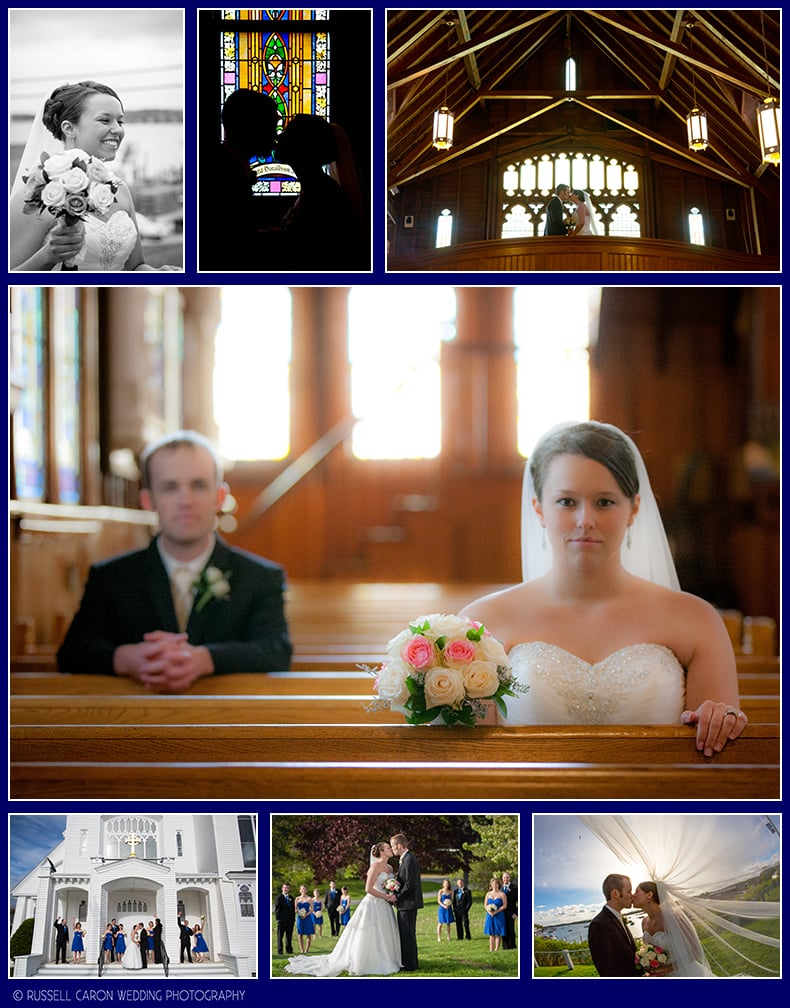 Bride and groom photos in Boothbay Harbor, Maine