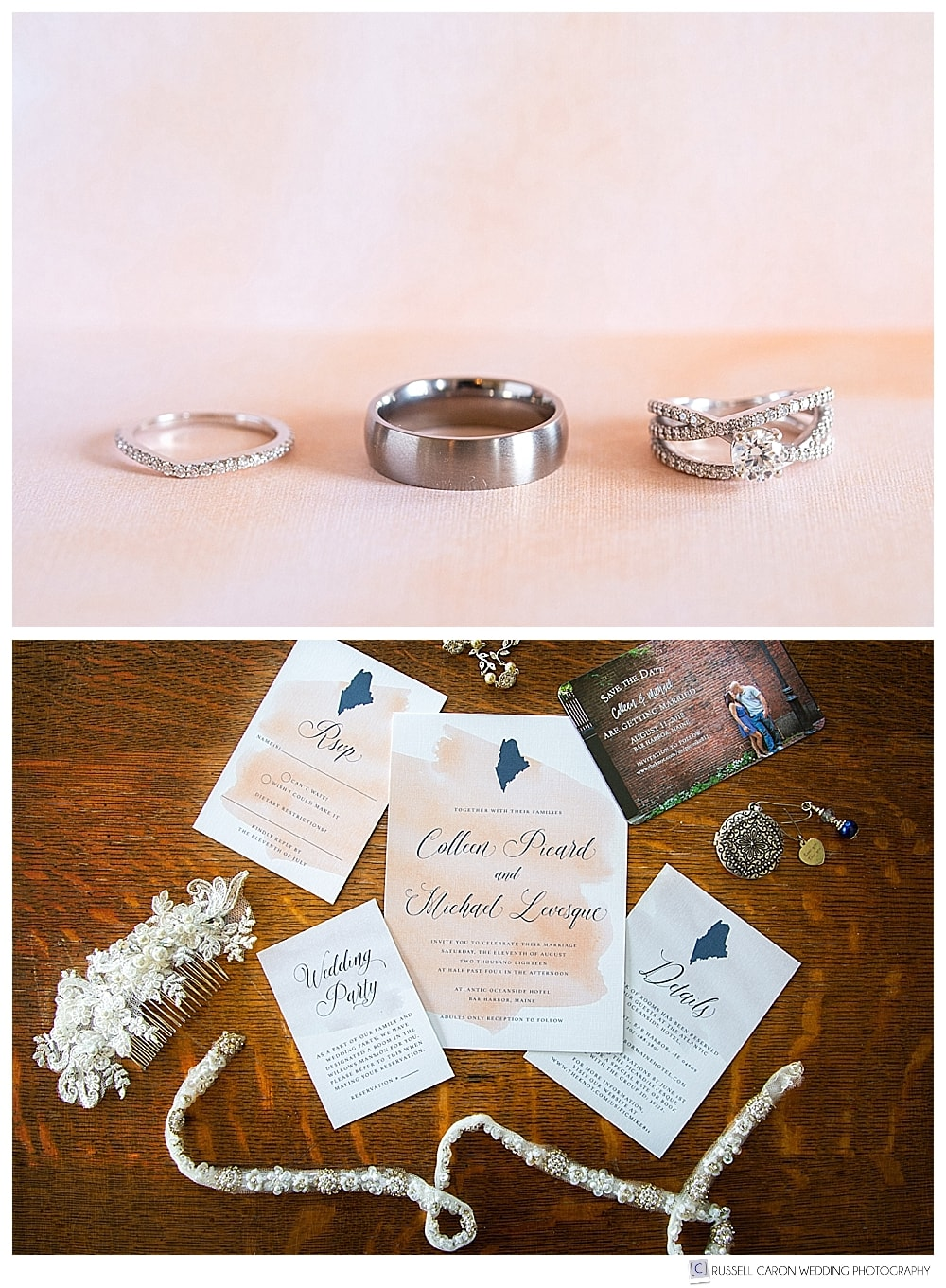 wedding ring photos, and paper suite photos on wedding day