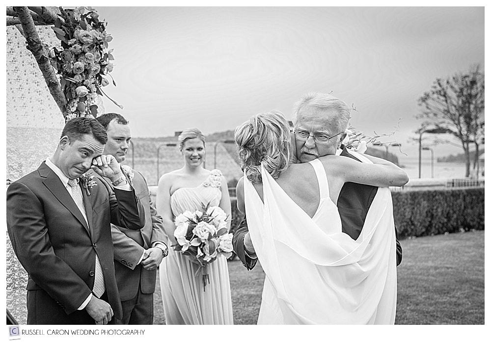 Poignant wedding image at Bar Harbor Club wedding, Bar Harbor, Acadia National Park wedding photographers