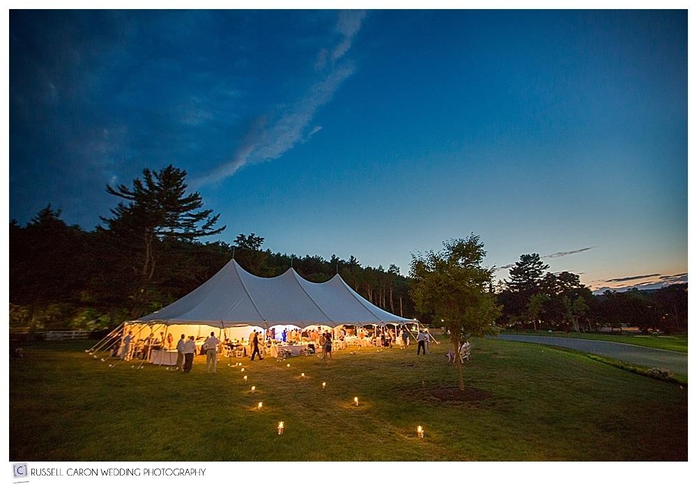 atlantic oceanside tented wedding