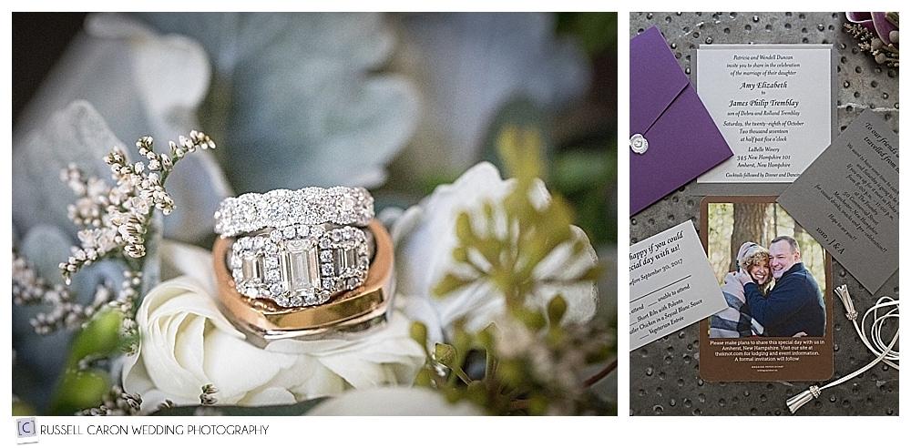 wedding ring detail photo, wedding paper suite detail photos